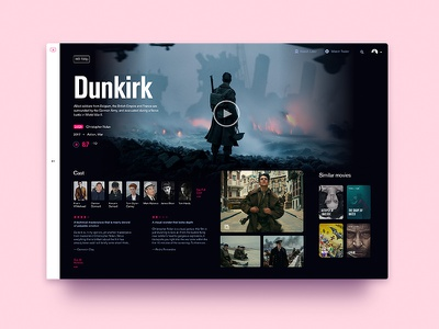 Tv On Demand-screen 2—UI Weekly Challenges-Season 02 / W [1/10] website web typography tv demand on movie film clean cinema
