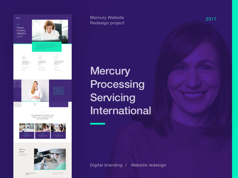 Mercury website redesign behance case by mario sestak