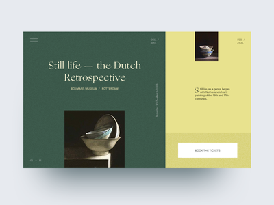 Still Life - The Dutch Retrospective rotterdam clean typography type history museum dutch art minimal website