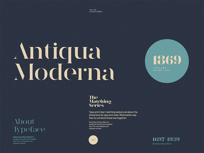 Type & Color — 003 antique dark color layout light type typography web website