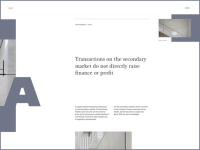 Financial Market Insights layout exploration