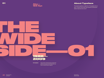 Type & Color — 006 bold wide website web typography type layout grotesk dark color