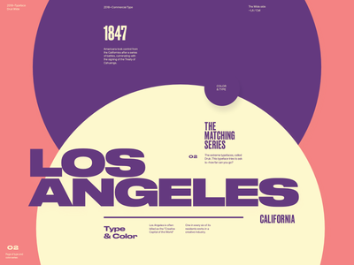 Type & Color — 006 / 2 california wide website web typography type layout grotesk dark color bold