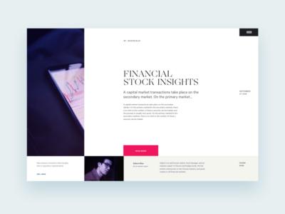 Financial Market Insights design direction