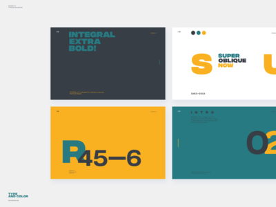 Type And Color Exploration Slides
