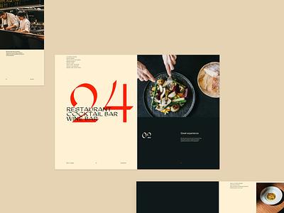 Restaurant menu design direction restaraunt branding simple clean layout minimal typography