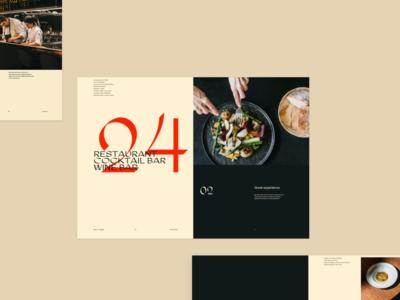 Restaurant menu design direction