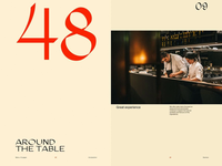 Design direction—restaurant website