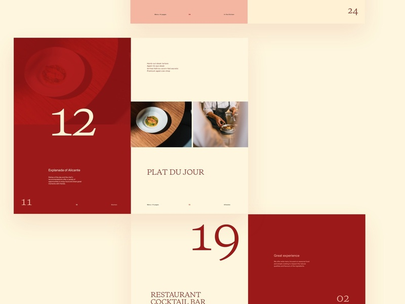 Design direction 2—restaurant website
