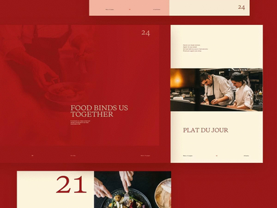 Restaurant Design Direction—Concept 2 restaurant food simple layout clean minimal typography web website