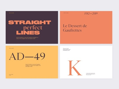 Type And Color Exploration flat simple type layout clean minimal typography web website