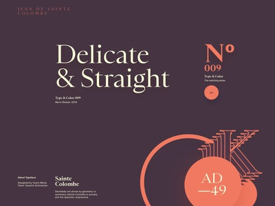 Type & Color — 009 / 01 serif font flat simple layout clean minimal web typography website