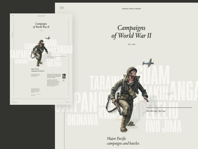 WW2 Exploration simple layout clean minimal typography web website