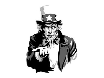 Strong Medicine patriotic sketch process uncle-sam military illustration