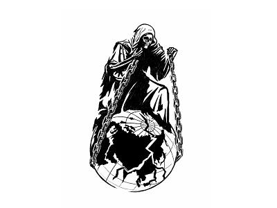 Hold Tight sketch process reaper illustration