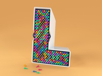 Lite brite 3d type by noah camp