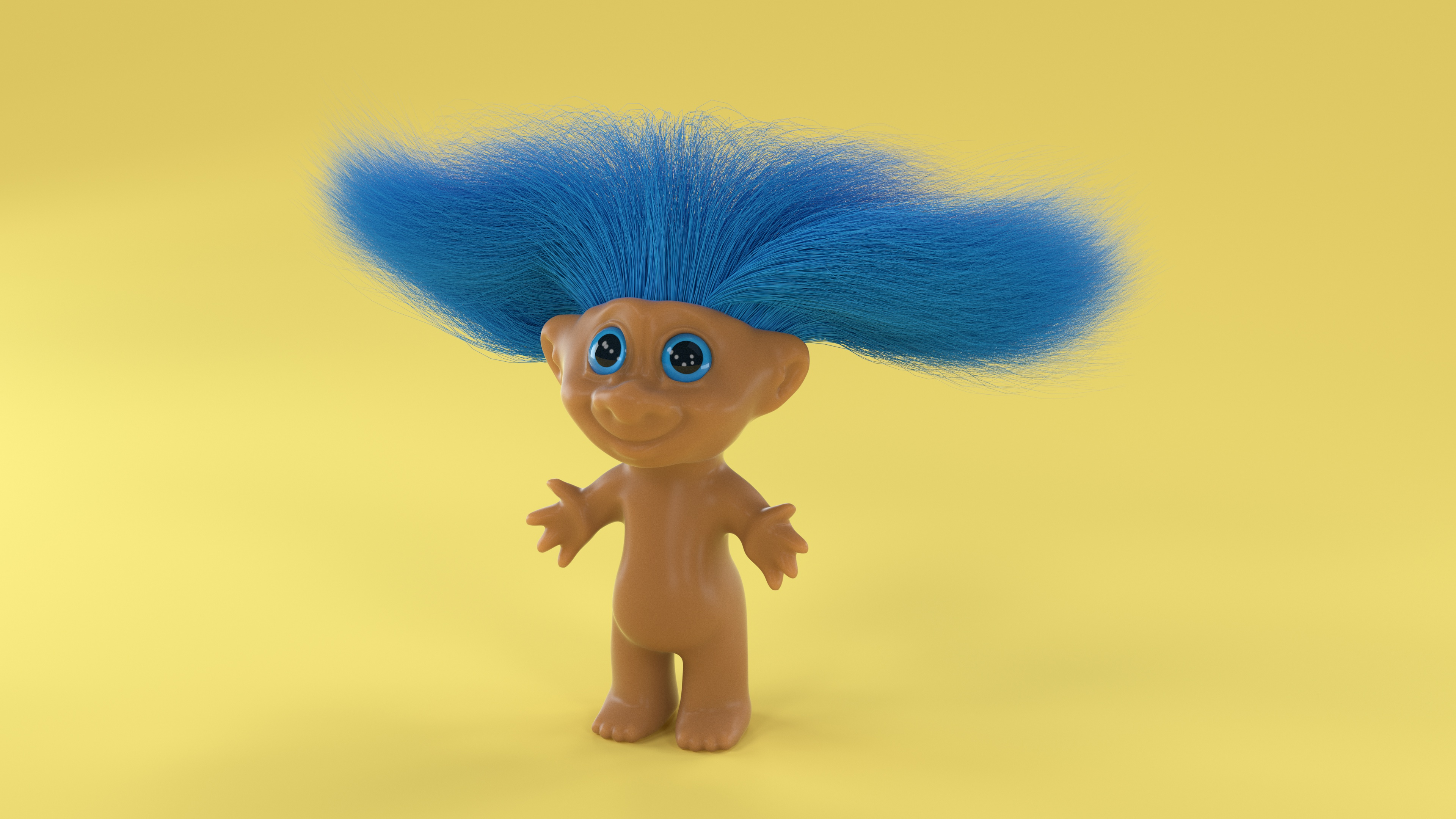 Troll doll 3d type by noah camp