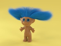 T is for Troll Doll
