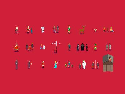 Christmas Pixels! christmas pixel art