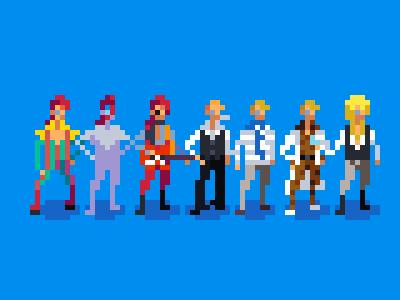 Heroes david bowie pixel art