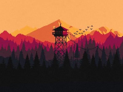 Firewatch firewatch pixel art