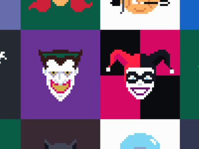 Rogues Gallery comics batman pixel art