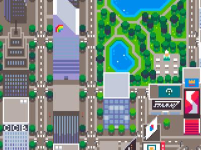 Mainlining Map art pixel