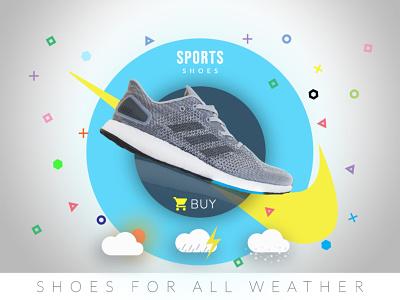 sports shoe web design illustration banner design grapic design