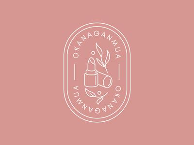 Logo - OkanaganMUA lipstick vector artist makeup logo