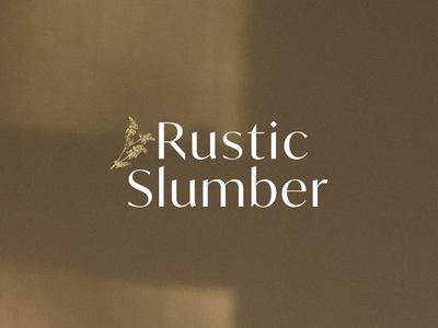 Rustic Slumber - Logo nature plants buckwheat shadow vector logo