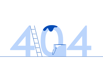PaintScout - 404 Error Illustration website design painting spill paint error page error 404