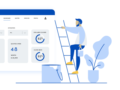 PaintScout - Homepage Illustration simple minimal ui webpage plants guy painting startup tech paint illustration vector