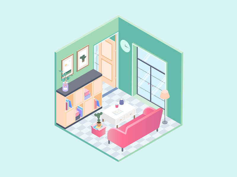 2.5D illustration - small house