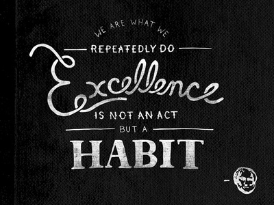 Hand Lettering Aristotle Quote