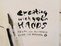 Creating With Your Hands