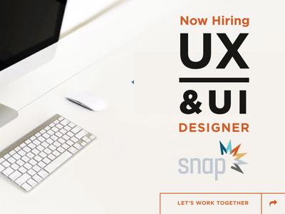 Now Hiring - UX/UI Designer