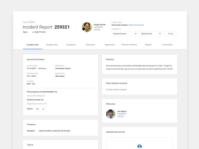 incident report app by aric burkert