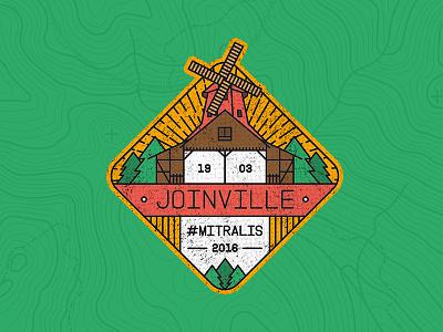 BADGE JOINVILLE/BR outlines city brazil badge