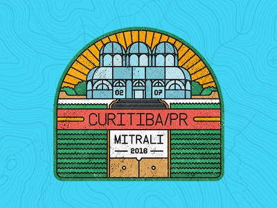 BADGE CURITIBA/BR illustration city brazil design outlines badge