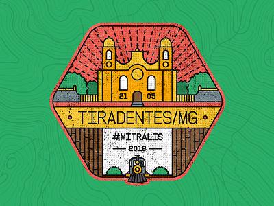 BADGE TIRADENTES/BR rallys design outline city brazil mitsubishi badge