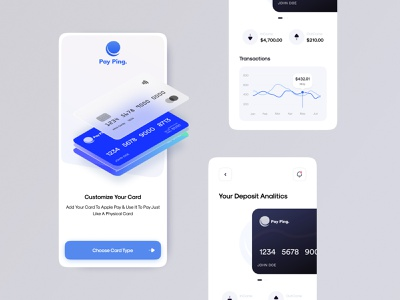 💳 PayPing Bank App Conceptual Design financial finance app finance fintech banking app neobank banking bank visa card mastercard credit card paypal apple pay apple ux design minimal concept ui figma