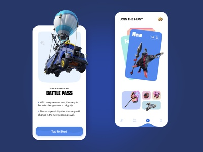 🎮 Game Launcher | Fortnite Mobile App Design dribbble dailyui games illustraion interface ui design call of duty pubg app design daily ui illustration 3d illustration game design mobile app game minimal ui concept figma fortnite