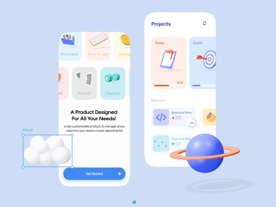 🪜 Project Management - Mobile App dashboard design to do list to do app task list app design mobile app mobile ui task dashboard ui ui asana task management task manager 3d illustration concept minimal figma project management project dashboad