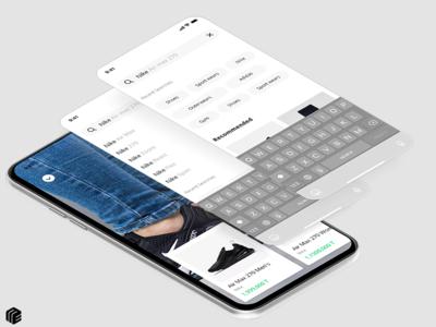 Tagmond - Search screen concept company fashion minimal branding invision dribbble design brand design brand ux app apple ui ios application app design figma android
