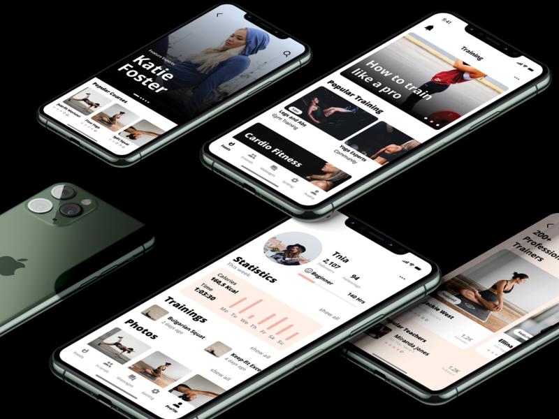 fitness mobile app uidesign application app design apple concept app figma iphone11 ui design شتابدهنده دیموند دیموندلب دیموند