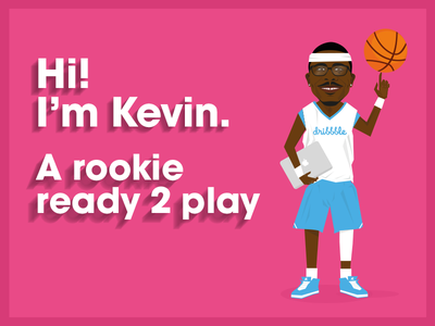 Kevin Tresor the dribbble rookie dribbble rookie ball player basket ball first shot illustration