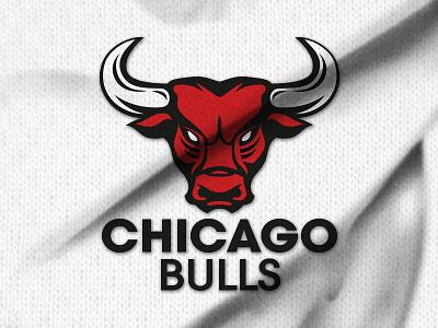 Play with the Chicago Bulls logo logo basketball re-design sport branding chicago bulls