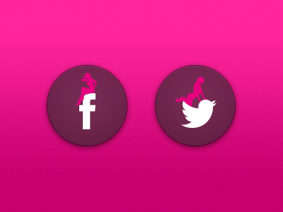 Sexy Social Icons sexy twitter facebook girl adult webdesign social icon