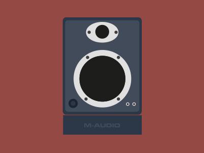 M-Audio Speaker flat musique design speaker audio icon illustration
