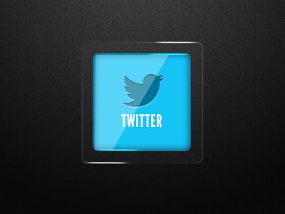 Twitter Icon twitter icon social illustration light frame